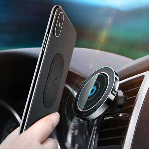 Baseus (10W) Big Ears Magnetic Car Mount / Air Vent & Dashboard / Wireless Charger